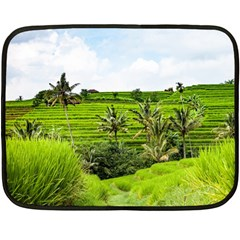 Bali Rice Terraces Landscape Rice Fleece Blanket (mini)
