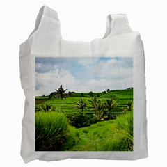 Bali Rice Terraces Landscape Rice Recycle Bag (two Side)