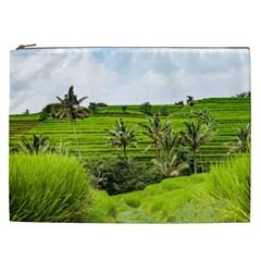 Bali Rice Terraces Landscape Rice Cosmetic Bag (xxl)