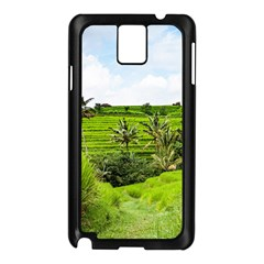 Bali Rice Terraces Landscape Rice Samsung Galaxy Note 3 N9005 Case (black) by Nexatart
