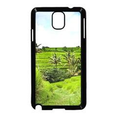 Bali Rice Terraces Landscape Rice Samsung Galaxy Note 3 Neo Hardshell Case (black) by Nexatart