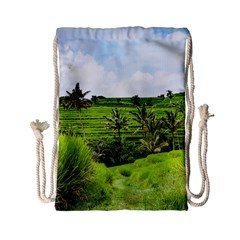 Bali Rice Terraces Landscape Rice Drawstring Bag (small)