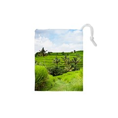 Bali Rice Terraces Landscape Rice Drawstring Pouches (xs)