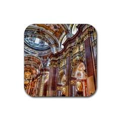 Baroque Church Collegiate Church Rubber Square Coaster (4 Pack)