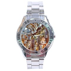 Baroque Church Collegiate Church Stainless Steel Analogue Watch