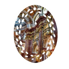 Baroque Church Collegiate Church Oval Filigree Ornament (two Sides) by Nexatart