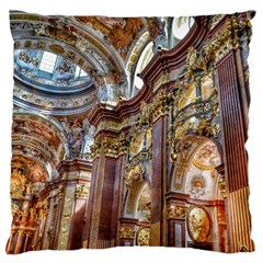 Baroque Church Collegiate Church Large Cushion Case (two Sides)