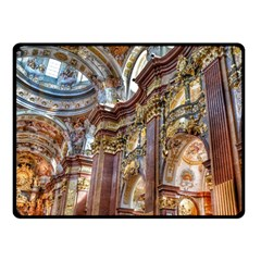 Baroque Church Collegiate Church Double Sided Fleece Blanket (small)