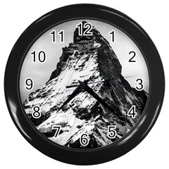 Matterhorn Switzerland Mountain Wall Clocks (black)
