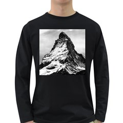 Matterhorn Switzerland Mountain Long Sleeve Dark T Shirts