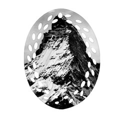 Matterhorn Switzerland Mountain Ornament (oval Filigree)
