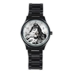 Matterhorn Switzerland Mountain Stainless Steel Round Watch
