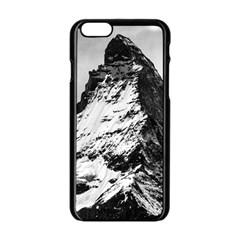 Matterhorn Switzerland Mountain Apple Iphone 6/6s Black Enamel Case