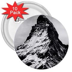 Matterhorn Switzerland Mountain 3  Buttons (10 Pack)