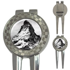 Matterhorn Switzerland Mountain 3 In 1 Golf Divots