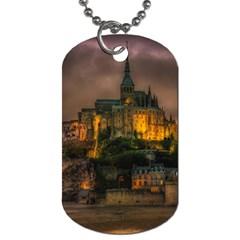 Mont St Michel Sunset Island Church Dog Tag (one Side)