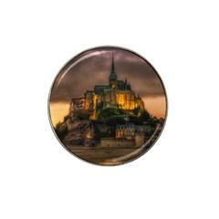 Mont St Michel Sunset Island Church Hat Clip Ball Marker (10 Pack)