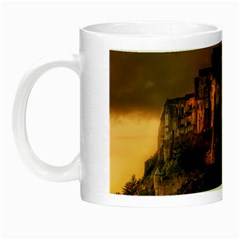 Mont St Michel Sunset Island Church Night Luminous Mugs