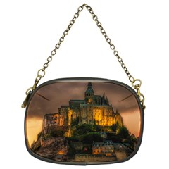 Mont St Michel Sunset Island Church Chain Purses (one Side)
