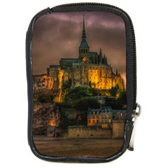 Mont St Michel Sunset Island Church Compact Camera Cases by Nexatart