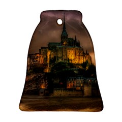 Mont St Michel Sunset Island Church Ornament (bell)