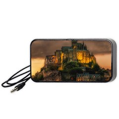 Mont St Michel Sunset Island Church Portable Speaker (black)