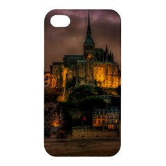 Mont St Michel Sunset Island Church Apple Iphone 4/4s Hardshell Case by Nexatart