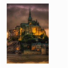 Mont St Michel Sunset Island Church Large Garden Flag (two Sides) by Nexatart