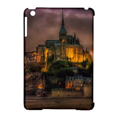 Mont St Michel Sunset Island Church Apple Ipad Mini Hardshell Case (compatible With Smart Cover) by Nexatart