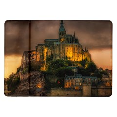 Mont St Michel Sunset Island Church Samsung Galaxy Tab 10 1  P7500 Flip Case