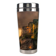 Mont St Michel Sunset Island Church Stainless Steel Travel Tumblers by Nexatart