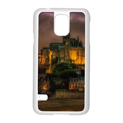 Mont St Michel Sunset Island Church Samsung Galaxy S5 Case (white)