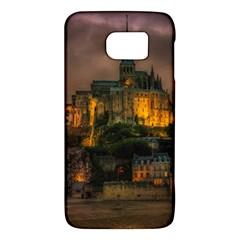 Mont St Michel Sunset Island Church Galaxy S6 by Nexatart