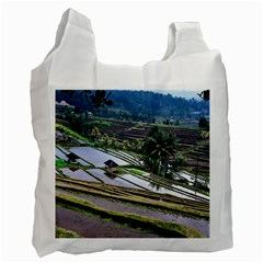 Rice Terrace Rice Fields Recycle Bag (two Side)  by Nexatart
