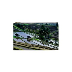 Rice Terrace Rice Fields Cosmetic Bag (small)  by Nexatart
