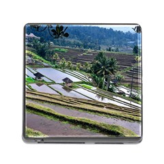 Rice Terrace Rice Fields Memory Card Reader (square)