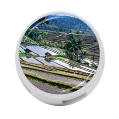 Rice Terrace Rice Fields 4 Port Usb Hub (one Side)