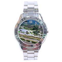Rice Terrace Rice Fields Stainless Steel Analogue Watch