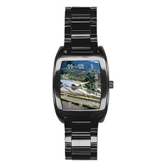 Rice Terrace Rice Fields Stainless Steel Barrel Watch