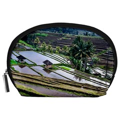Rice Terrace Rice Fields Accessory Pouches (large)  by Nexatart