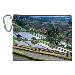 Rice Terrace Rice Fields Canvas Cosmetic Bag (xxl) by Nexatart