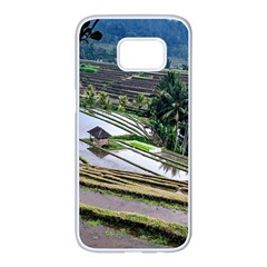 Rice Terrace Rice Fields Samsung Galaxy S7 Edge White Seamless Case