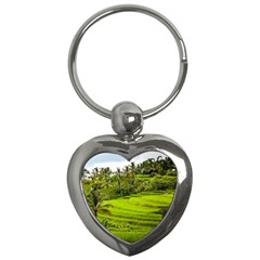 Rice Terrace Terraces Key Chains (heart)