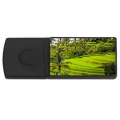 Rice Terrace Terraces Rectangular Usb Flash Drive