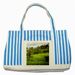 Rice Terrace Terraces Striped Blue Tote Bag by Nexatart