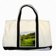 Rice Terrace Terraces Two Tone Tote Bag by Nexatart