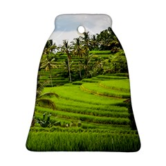 Rice Terrace Terraces Bell Ornament (two Sides)