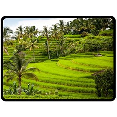 Rice Terrace Terraces Double Sided Fleece Blanket (large)