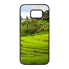 Rice Terrace Terraces Samsung Galaxy S7 Edge Black Seamless Case