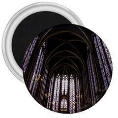 Sainte Chapelle Paris Stained Glass 3  Magnets